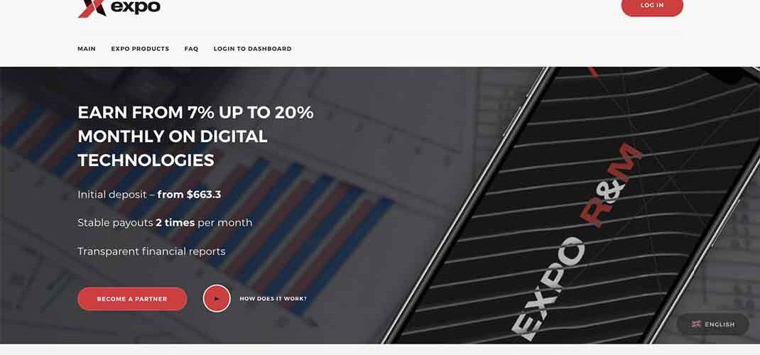 Пирамида EXPO R&M: отзывы и условия инвестирования – Мошенник?